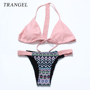 Trangel 2017 new arrival Bandage Bikini Sexy Beach Swimwear Women Padding Swimsuit Bathing Suit Brazilian Bikini Set maillot