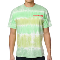 Odd Future Mellowhype Creep Green Tie Dye Tee Shirt