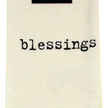 Blessings White Cloth Napkins Lot 6 18x18 Cotton Lisa Weedn Slant Collections