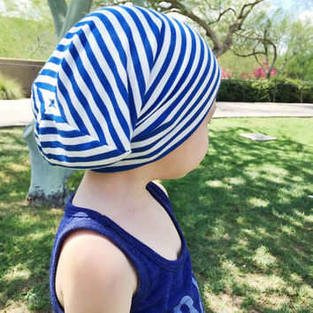 Baby slouchy beanie  Toddler boy slouch beanie  Royal blue hipster beanie   Slouchy kni 3a8d1e0a6c90