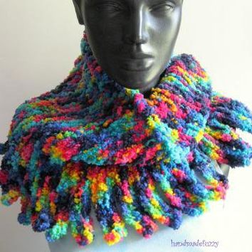 funky soft neck warmer by handmadefuzzy on Zibbet