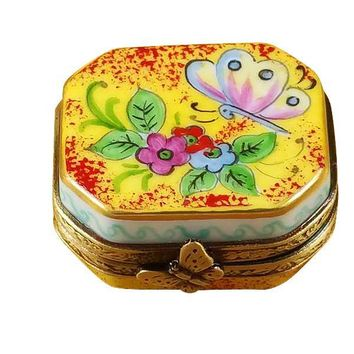 Butterfly on Flowers Limoges Boxes