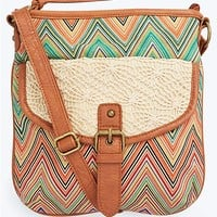 Boho Crochet Chevron Crossbody