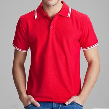 Polo Shirt Solid Casual Polo