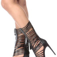 Edge of Summer Black Gladiator Heels