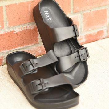 Paradise Bound Slides - Black