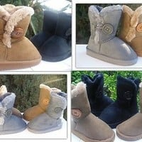 New Girls (toddler) Boots. Brown, Black & Grey. Many Sizes.(not for snow).