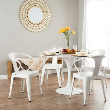 White Tabouret Stacking Chairs (Set of 4) - Free Shipping Today - Overstock.com - 12950047 - Mobile
