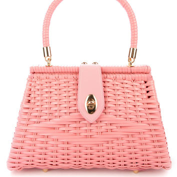 Wicker Purse in Pink
