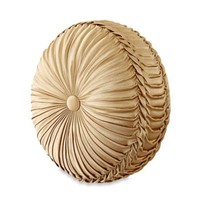 J. Queen New York™ Marcello Tufted Round Throw Pillow in Gold