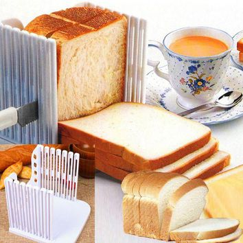DCCKFS2 Plastic Splicing Toast Bread Slicer Cutting Guide Tools Loaf Cutter Rack Slicing Kitchen Accessories Tool FP8