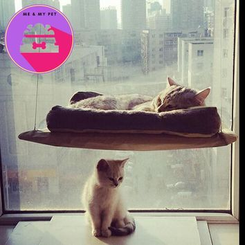 Cat Basking Window Mounted Hammock Support 45lb Perch Cushion Rest Bed