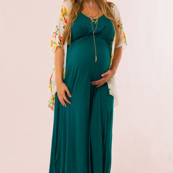 Easy to Style Maternity Maxi in Teal