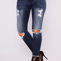 Eveline Ankle Jeans - Dark Denim