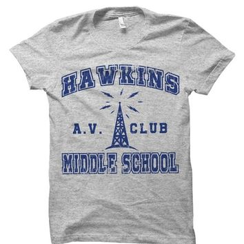Stranger Things Hawkins Middle School AV Club Tv Series T-Shirt