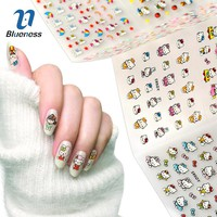 24 Sheet Hello Kitty Design Decals Cat Model Stamping Stickers For Nails Diy Beauty Bronzing 3D Nail Art Tips Sticker