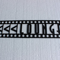 Home Theater Decor Lounge Sign Black Metal Wall Art
