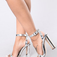 Simple And Sleek Heel - Silver