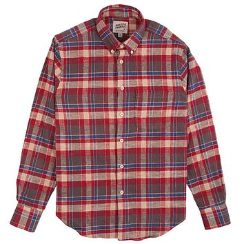 Naked & Famous Denim - Rustic Nep Flannel Red Easy Shirt