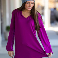 The Perfect Piko Tunic Top-Berry Red Piko tops – Simply Dixie Boutique