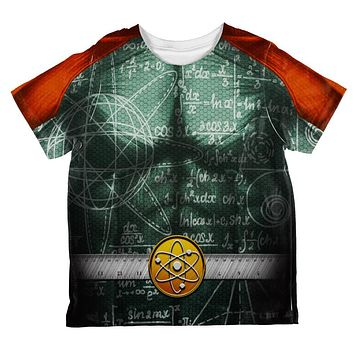 Halloween Math Geek Scientist Superhero Costume All Over Toddler T Shirt