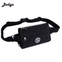 Brand Multilayer Women Waist Pack Molle Pouch Waterproof Nylon Fanny Bags Ladies Travel Waist Bum Bag