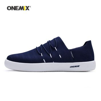 Onemix Man Skateboarding Shoes Men Driving Slip On Mesh Designer Classic Skateboard Sneakers Outdoor Jogging Walking Trainers