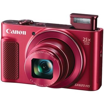 Canon(R) 1073C001 20.2-Megapixel PowerShot(R) SX620 HS Digital Camera (Red)
