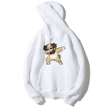 MYDBSH Funny Aminal Dabbing Dogs Hoodies Men/ Women Cartoon Print Dog Sweatshirts Hoodie Man Winter Clothes Mens Casual Pullover