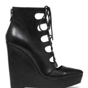 Alfredo Lace-Up Wedge Bootie