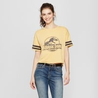 Women's Jurassic Park Short Sleeve Logo Graphic T-Shirt (Juniors') Mustard
