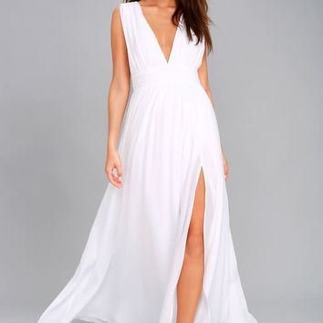 Heavenly Hues White Maxi Dress