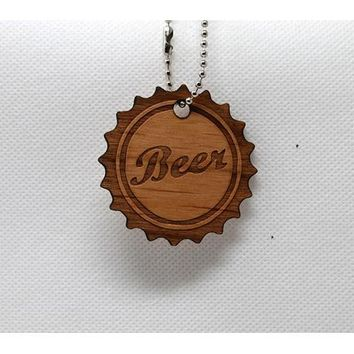 Keychain Beer Cap KC-023 Laser Cut Shape