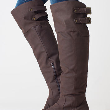 Renegade Knee High Boot, Dark Porter