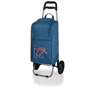 Memphis Tigers Cart Cooler with Trolley-Navy Digital Print