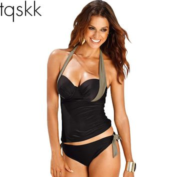 ffa634196b3f7 Swimwear Women Swimsuit 2018 Sexy Push Up Tankini Set Vintage Ha