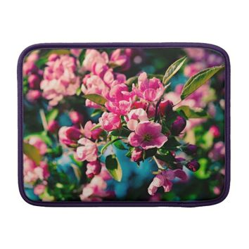 Pink Crab Apple Flowers MacBook Sleeve