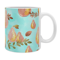 Lisa Argyropoulos Copper Pears Aqua Blue Coffee Mug