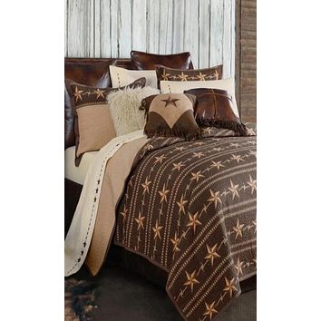 Cowgirl Kim Star Ranch Reversible Quilt Set