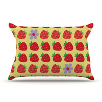 "Jane Smith ""Seasons Summer"" Yellow Red Pillow Sham"