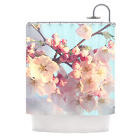 "Sylvia Cook ""Waiting for Spring"" Pink Blue Shower Curtain"