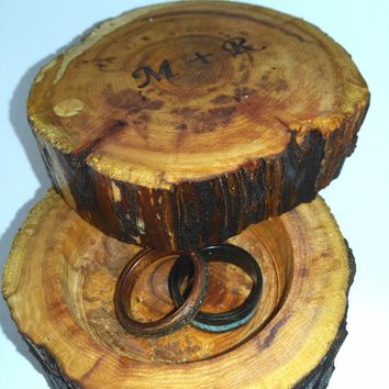 Jewelry ring box custom engraved