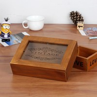 Home Wooden Cosmetic Jewelry Storage Box Home Decor [6282528134]