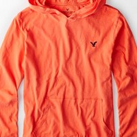 AEO Men's Legend Hoodie T-shirt (Bright Neon Red)