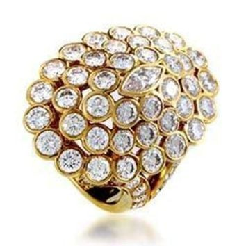 ESB3DS Cartier Yellow Gold Diamond Cluster Ring