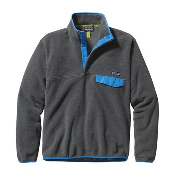 Patagonia Men's Lightweight Synchilla® Snap-T® Pullover | Nickel w/Electron Blue