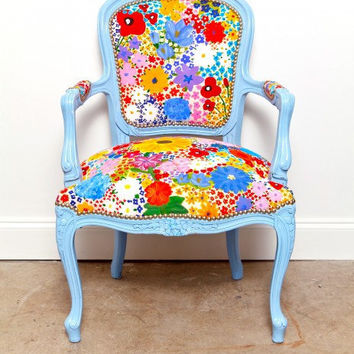 Pardon The Garden Reupholstered Vintage Chair