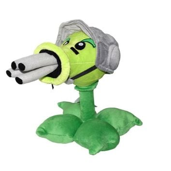 Star Product 12inch 30cm Lovely Plant Vs Zombies PopCap Gatling Peashooter Plush Toys,1pcs/pack