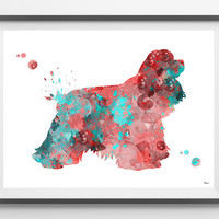 Cocker Spaniel dog watercolor print american cocker spaniel dog poster cocker illustration dog art cocker dog breed wall decor print [234]