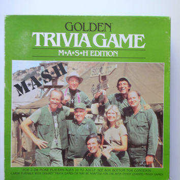 Vintage Golden Trivia Board Game Mash Edition 1984